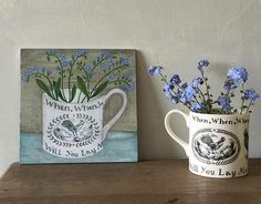 'Nursery ware cup and forget me nots' just finished this today. #newpainting…