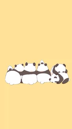 Cute panda iPhone wallpaper
