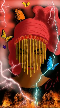 "14 de agosto -  ""Iaô, Oiaô. Se for uma dança que gira, ela dança, Se for Bembê, ela dança (...) Quem dança com  os tambores da Bata? Ô,  ela dança. Quem dança com Shekerê, Ô ela dança. Mulher de Ogum, ela é quem dança seja o que for. Ela vem dançando mascarada de Egungun há muito, muito tempo. Oiá tinha tanta honra que se virou e tornou-se Orixá. Oiá guarda a estrada que leva ao mundo e dela sai. Oiá, respeito ao que mete medo."" (Judith Gleason, 'Reza Tradicional de Oiá') - by Júlia Rodrigues"