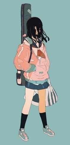 More anime and manga Kawaii Anime Girl, Anime Art Girl, Anime Girls, Aesthetic Art, Aesthetic Anime, Character Illustration, Illustration Art, Character Art, Character Design