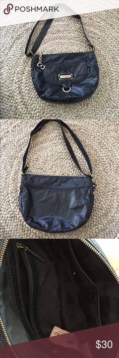 Juicy Couture Shoulder Handbag Juicy Couture Handbag black with gold hardware. Magnetic front flap opening pocket. Juicy Couture Bags Shoulder Bags