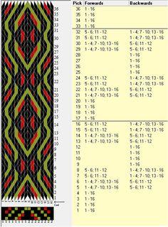 16 tarjetas, 3 colores, repite cada 16 movimientos // sed_347 diseñado en GTT༺❁