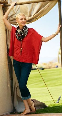 """Another look I love, but I wouldn't want the top to be as """"sweater-y."""" Chico's."""