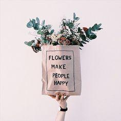 Flowers make happy people