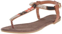 Muk Luks Women's Jennifer Beaded Flat Sandal >>> Click image for more details. (This is an affiliate link and I receive a commission for the sales)