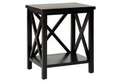 Lucas Cross-Back End Table, Black.  To add in the corner of dining rooM?
