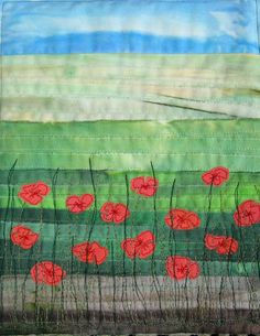 Quilt Routes: Alternative Poppies