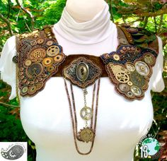 "Gorgeous beaded & embroidered collar ""Locked in Time"""