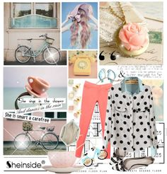 """Sheinside.com Pastels & Polka Dots"" by skibunny24 ❤ liked on Polyvore"
