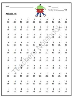 math worksheet : addition worksheet  adding doubles  single digit only a  : Math Speed Drills Worksheets