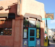 Santa Fe reataurants breakfast Cafe Pasquals, photo Steve Collins   Chef/owner Katherine Kagel has long supported fresh and local in her small corner café in downtown Santa Fe. Breakfast here is a tradition with locals and a destination for visitors because it's gotten a lot of press.