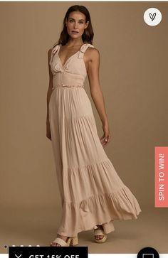 Beige Maxi Dresses, Maternity Dresses, Bridesmaid Dresses, Pretty Dresses, Dresses For Work, Summer Dresses, Neutral Dress, Bodice Top, Flattering Dresses