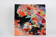 Kimono Art Panel using chirimen yuzen fabric – SAKURA The Art of Living