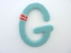 knitted letters x