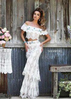 Bohemian prom dress