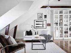 Attic studio apartment