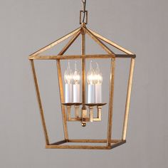 Vintage Geometric Cage Frame 4 Candle Light Kitchen Foyer Pendant Light in Brass Finish - Modern Foyer Pendant Lighting, Farmhouse Pendant Lighting, Vintage Pendant Lighting, Brass Pendant Light, Kitchen Lighting Fixtures, Home Lighting, Light Fixtures, Pendant Lights, Hall Lights Ceiling