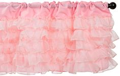 Baby Doll Layered Window Valance, Pink