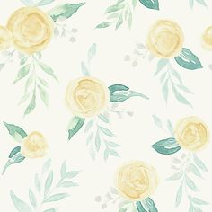 York Wallcoverings Magnolia Home Artful Prints and Patterns ft Yellow Paper Floral Prepasted Soak and Hang Wallpaper at Lowe's. Inspired by classic heritage florals, this soft watercolor rose print is reclaimed in beautifully simplistic form and color. Plant Wallpaper, Watercolor Wallpaper, Rose Wallpaper, Watercolor Rose, Colorful Wallpaper, Wallpaper Roll, Peel And Stick Wallpaper, Pattern Wallpaper, Wallpaper Backgrounds