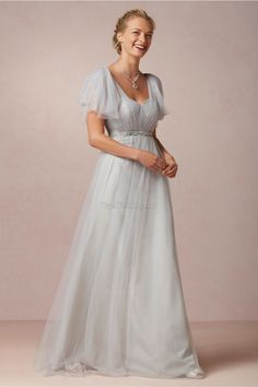 Beautiful-grey-bridesmaid-dresses-with-fancy-sleeves-