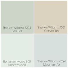 Finalized the paint colors for our home: Canvas Tan - Living Room, Stonewashed for Kitchen
