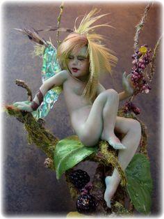 """Rain Forest Faery 7"""" Sculpture Art Doll"""