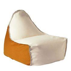Lazy Bag - Santorini Beanbag Lounger - Ivory & Apricot | Milan Direct