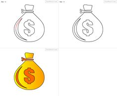 How to draw pear for kids step by step drawing tutorial for How to get money easily as a kid