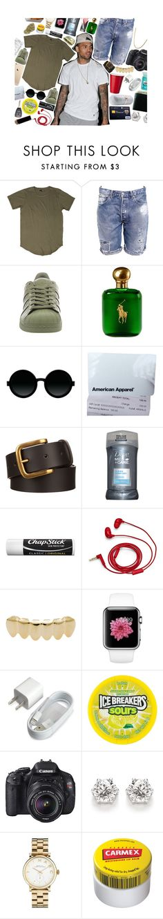 """""""We back and better as ever 😏"""" by paradise-boyz ❤ liked on Polyvore featuring Levi's, adidas, Ralph Lauren, Moscot, American Apparel, Dove, Chapstick, FOSSIL, WALL and Eos"""