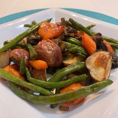 Vegetable Side Dishes, Side Dishes Easy, Side Dish Recipes, Vegetable Recipes, Baked Red Potatoes, Roasted Potatoes, Bean Recipes, Potato Recipes, One Pot Meals