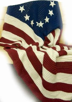 Knifty Knitter Flag Blanket -- here's the whole pattern so you don't have to go through multiple pages to find it. Looks like a great project!