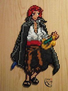 Shanks Trainer perler beads by Cimenord on DeviantArt