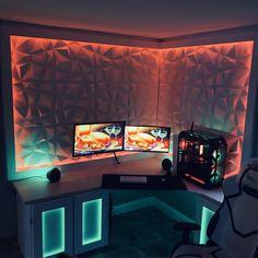 20 best gaming room setup ideas you can build. Build your own gaming setup. Best Gaming Setup, Gaming Room Setup, Pc Setup, Cool Gaming Setups, Ultimate Gaming Setup, Gaming Chair, Computer Gaming Room, Computer Setup, Gaming Desktop