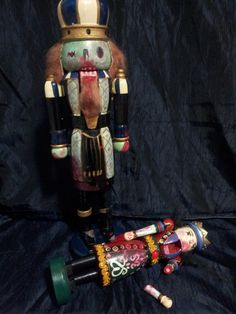 Zombie Nutcracker and his victim  New by biscuitsandgravy1976