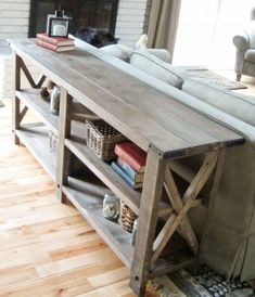 love the 2x4 furniture for this farmhouse style look!!