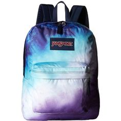 JanSport High Stakes (Multi Water Ombre) Backpack Bags ($40) ❤ liked on Polyvore featuring bags, backpacks, blue backpack, polyester backpack, backpack bags, day pack backpack and strap bag