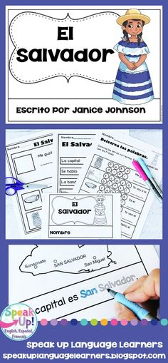 El Salvador Reader {en español} & Vocab pages ~ Simplified for Language Learners Elementary Spanish, Spanish Classroom, Classroom Ideas, San Salvador, Spanish Lessons, Learning Spanish, Spanish Speaking Countries, Spanish Culture, Facts For Kids