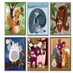Janod Kubkid Forest Animal Blocks