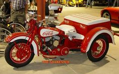 Being a staple collectors item, Coca-Cola brands are all over the place, even on motorcycles. Every one can be a fan of the brand when it's every where, because if you don't like motorcycles, it's on a car, and most people drive cars in America.