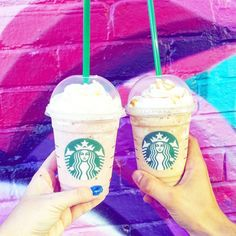 """Starbucks Frappuccino on Instagram: """"Here's to all the purple rainbow murals everywhere. 🌈💘 #Regram: @pawchan31"""""""