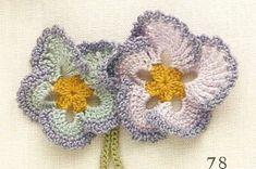 ஐ Spring is coming! ஐﻬ Crochet Flower in Pastels with diagram to follow. .❀⊱╮CQ #crochet #spring #crochetflowers #flowers  http://www.pinterest.com/CoronaQueen/crochet-leaves-and-flowers-corona/