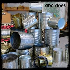 Tins and magnetic tape to enhance the construction area Construction Area Ideas, Construction Eyfs, Construction Area Early Years, Eyfs Classroom, Outdoor Classroom, Classroom Ideas, Deconstructed Role Play, Curiosity Approach Eyfs, Abc Does