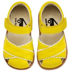 Love these bright yellow Mary Jane's!