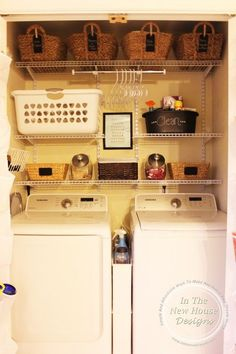 Super functional small laundry closet remodel on a budget                                                                                                                                                                                 More