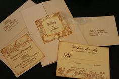 Vintage Wedding Invitation Suite Flower & by FaithfulCrafter, $6.25