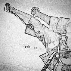 #zeichnung #drawing #karate #karatedo #shotokan #dojo #dan #meistergrad #budoka #kuroobi #blackbelt #yokogeri #uraken http://ift.tt/1NFeDkK www.taikikan.de