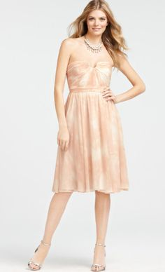 Anne Taylor Silk Butterfly Whispers Printed Bridesmaid Dress (Kelly H!)