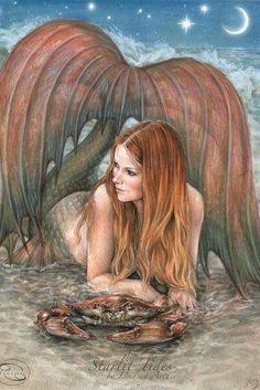 Cancer: Starlit Tides by LinzArcher on DeviantArt Mermaid Myth Mythical Mystical Legend Mermaids Siren Fantasy Ocean Sea Enchantment Sirens Meerjungfrau sirène sirena Русалка pannu havfrue zeemeermin merenneito syrenka sereia sjöjungfrun sellő Fantasy Mermaids, Real Mermaids, Mermaids And Mermen, Magical Creatures, Fantasy Creatures, Sea Creatures, Mermaid Fairy, Mermaid Tale, Fantasy Kunst
