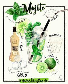 Drink Ilustrado #1   Mojito on Behance