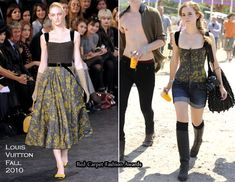 Emma Watson In Louis Vuitton (Glastonbury Festival 2010) - I love the Louis Vuitton Fall 2010 bustier ..*___*.. Everything is perfect about Emma's look <3